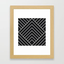 Diamond Series Pyramid White on Charcoal Framed Art Print