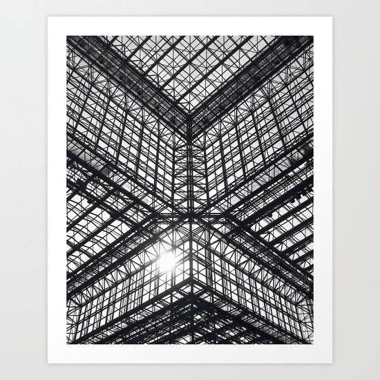 Metal and Glass Art Print