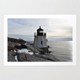 Castle Hill Lighthouse, Newport Rhode Island Art Print