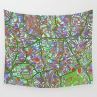 maps Wall Tapestries featuring Fantasy City Maps 2 by MehrFarbeimLeben