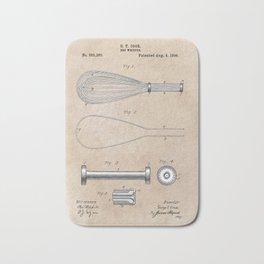 patent art Cook Egg Whipper 1896 Bath Mat