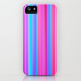 Pink and Blue Stripes iPhone Case
