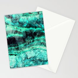 Turquoise onyx marble Stationery Cards