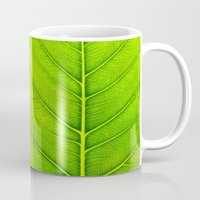 leaf Mugs featuring Leaf by Patterns and Textures