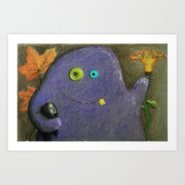 My friendly monster Art Print