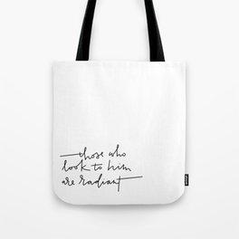 Radiant Lettering Tote Bag