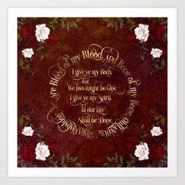 Outlander Wedding Vows Art Print
