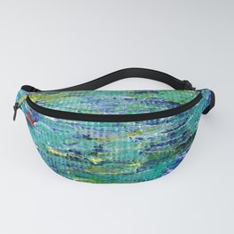 Lily Pond Abstract 3 Fanny Pack
