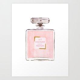 Pink Parfum Art Print