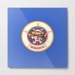 flag minnesota,america,usa,midwest,gopher state, north star,agate,minnesotan,Saint paul,minneapolis Metal Print