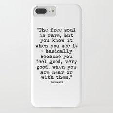 Charles Bukowski Typewriter Quote Free Soul iPhone 7 Plus Slim Case