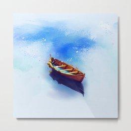 Boat Art Painting Metal Print