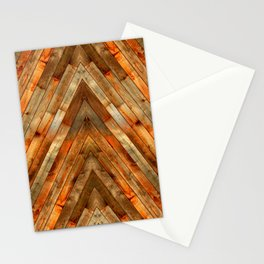 Wood Plank Texture Stationery Cards