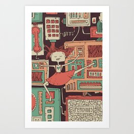 Everything you always wanted to know about mobile communication but where afraid to ask 2 Art Print