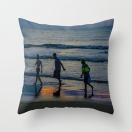 Beach Bums Throw Pillow