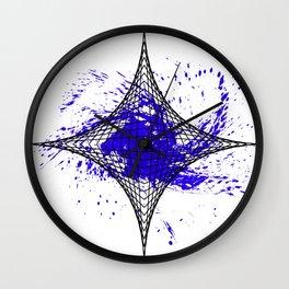 Star Blue Wall Clock
