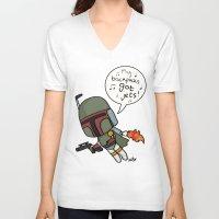 boba V-neck T-shirts featuring boba by kaylieghkartoons