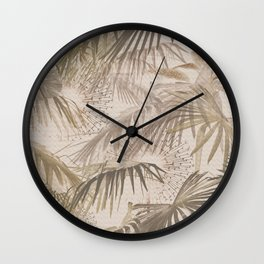 Tropically (neutral color)invert Wall Clock
