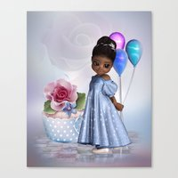 birthday Canvas Prints featuring Birthday by Illu-Pic-A.T.Art