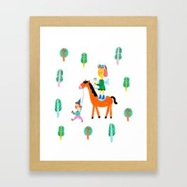 Colorful Cheerful Forest Framed Art Print
