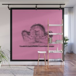 Pink goth tombstone detail Wall Mural