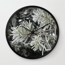 Frosted pine Wall Clock