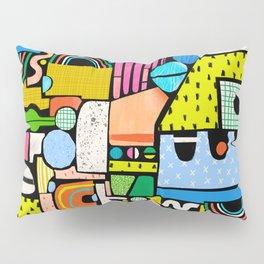 Color Block Collage Pillow Sham