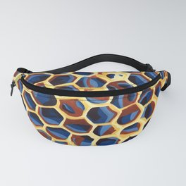 Sheltered, Macro Wasp Nest Painting Fanny Pack
