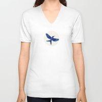 mockingjay V-neck T-shirts featuring Mockingjay Mockingjay by Blanca MonQnill Sole