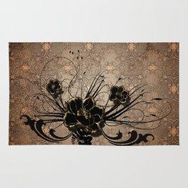Decorative floral design Rug