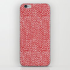 Hand Knit Red iPhone Skin