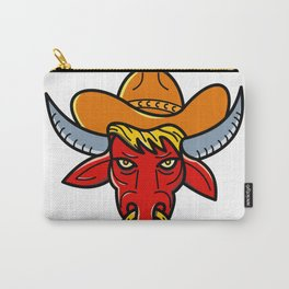 Bull Cowboy Hat Mono Line Art Carry-All Pouch