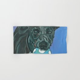 Fly the Whippet Dog Portrait Hand & Bath Towel