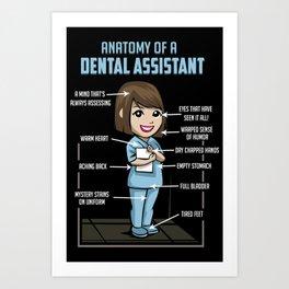 Anatomy Of A Dental Assistant Art Print