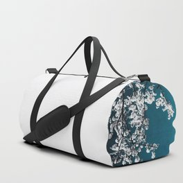 white blossoms Duffle Bag