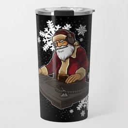 DJ Santa Claus Live On The Christmas Stage Travel Mug