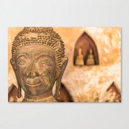 Wat Si Saket Buddhas VII, Vientiane, Laos Canvas Print