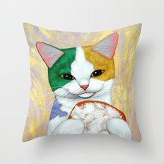 Mardi Gras Catch Throw Pillow
