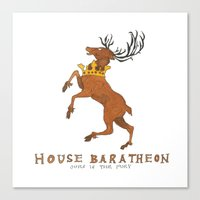 game of thrones Canvas Prints featuring House Baratheon- Game of Thrones by 366Sketchbook