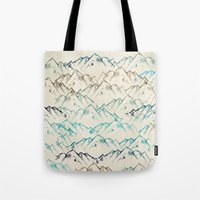 mountains Tote Bags featuring Mountains  by rskinner1122