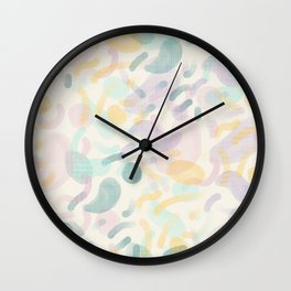 Dotted Blobs #society6 #abstractart Wall Clock