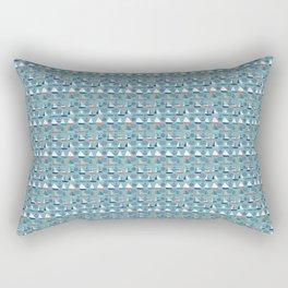 Blue Sailboat Pattern Rectangular Pillow
