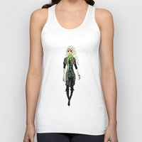fashion illustration Tank Tops featuring Fashion Illustration by Anca Avram