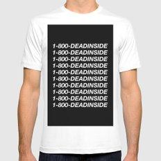 1800 Dead inside ( Hotline Bling- Drake ) MEDIUM White Mens Fitted Tee