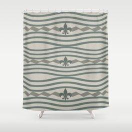 Corduroy Pattern Lines Shower Curtain