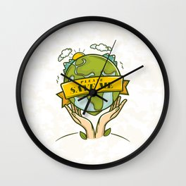 Save the Earth Wall Clock