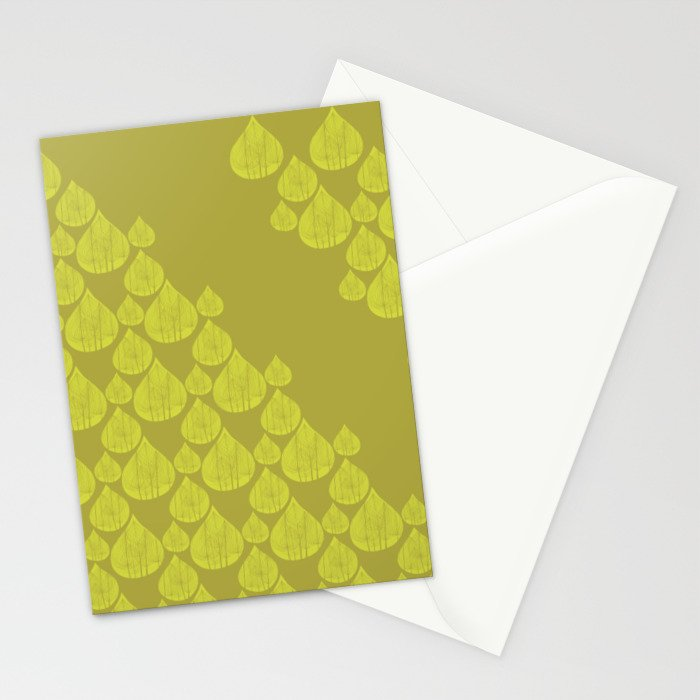 Green drops Stationery Cards