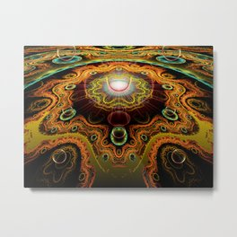 Never Neverland: Cellular Architecture Metal Print