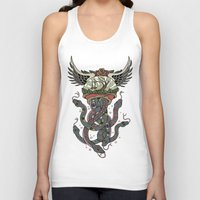 cthulu Tank Tops featuring In To The Blue by Mark R. Skipper