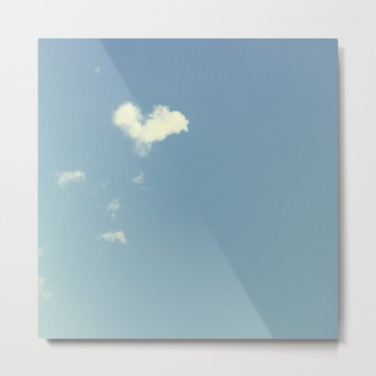 Collecting Clouds {heart} Metal Print